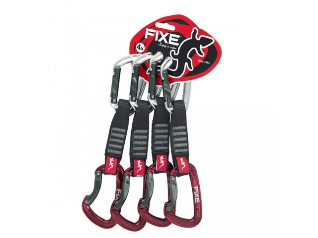 Fixe Montgrony Quickdraw 12cm, 4 Stuks, grijs/rood